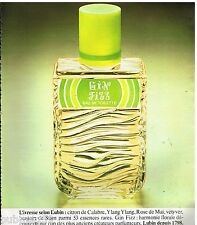 Publicité Advertising 1977 Eau de Toilette Gin Fizz de Lubin