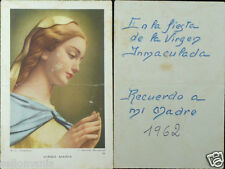 OLD BLESSED VIRGIN IMMACULATE CONCEPTION HOLY CARD ANDACHTSBILD SANTINI C803