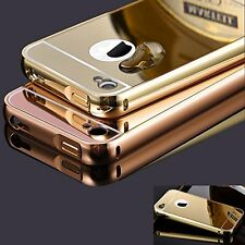 Apple iPhone 5S Bumper + Back With Mirror Finish Case Cover for iPhone Gold
