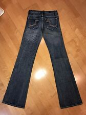 "Vintage Rock And Republic Roth Jeans Tag Size 26 Rainbow Crystals 27""x33"" Long"