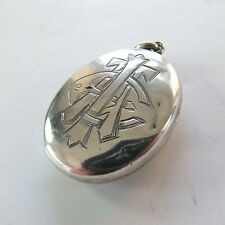 Rare Victorian Silver AEI Amity Eternity Infinity Photo Locket Pendant