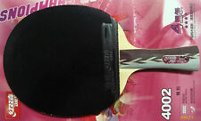 DHS 4002 Table Tennis Racket/Ping Pong Paddle, 4 star, two side pips-in, New
