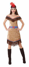 #INDIAN WOMEN DELUXE BROWN ADULT COSTUME FANCY DRESS PARTY ONE SIZE