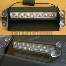 8 LED Flashing Beacon Lightbar Strobe Warning Lights Universal Car Van Truck 12V