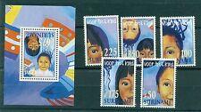 RITRATTI - PORTRAITS SURINAME 1997 Pro Infantia set+block