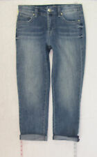 Nine West vintage Boho sz 4 Womens Blue Jeans Denim Pants Stretch B1200