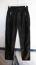 Makobi Black Faux Leather Jogger Pants Men's Sz L