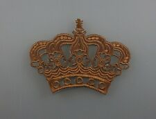 Embroidered Patch Iron Sew Logo Custom IMPERIAL CROWN king queen 3