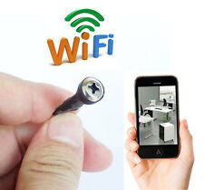 NEW wireless WIFI IP DIY spy pinhole screw mini camera tiny nanny DVR recorder