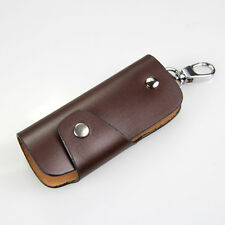 Men Genuine Leather Vintage Brown Car Key Chains Rings Cases Holder Package