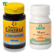 PACK L-ARGININA 500mg 50 Capsulas + MACA 500mg 100 Comprimidos - SALUD SEXUAL