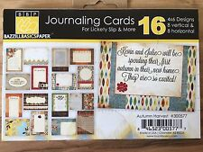 Lickety Slip/Pocket Pages Bazzill Journaling Cards Harvest Autumn Fall Scrapbook