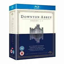 DOWNTON ABBEY COMPLETE SERIES 1 - 4 BLU RAY BOX SET New Downtown Dontown Donton