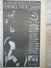 "TERENCE TRENT D'ARBY HARDLINE 1987 TOUR DATES, N.M.E. ADVERT PICTURE 10"" X 6"""