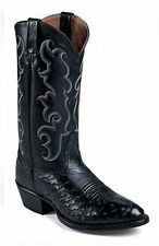 Nocona Mens 1090131603 Vintage Black Smooth Ostrich Western Boot 11D New