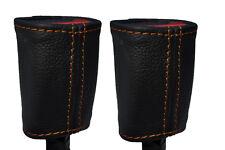 Cuciture color arancio 2x ANTERIORE Cintura di sicurezza in pelle copre gli accoppiamenti TOYOTA YARIS 2013-2015