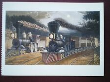 POSTCARD RAIL - STEAM THE LIGHTINING EXPRESS TRAINS