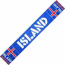 SCIARPA ISLANDA ICELAND no Italia scarf bandiera cappello maglietta bandierina