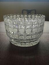 EXTRA LARGE Czech Brilliant Hand Cut Crystal Glass Punch Fruit Bowl 12 LBS! WOW!