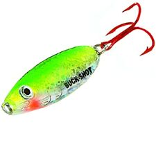 NEW Northland Buck-Shot Rattle Spoon 1/4oz Super-Glo Perch BRS4-20