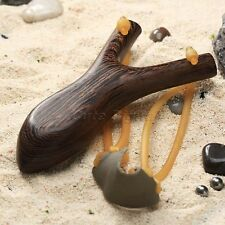 Powerful Handmade Wenge Wood Slingshot Hunting Game Catapult with Rubber Band