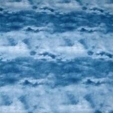 Cotton Fabric Per ½ Yard, Cloud Print, Naturescape, Blue, by South Seas Imports