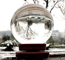 Clear Asian Natural Quartz Magic Crystal Ball Sphere 60mm With Stand Jf693