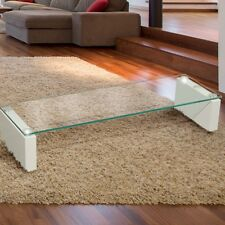 Sturdy Lowboard Television Monitor Glass Shelf Rack Warte Room Tray Table