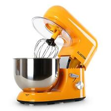 DELUXE ORANGE ELECTRIC FOOD STAND MIXER TABLE TOP BOWL GUARD 5L 1200W 6 SPEED