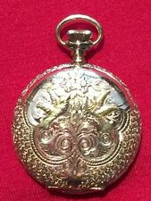 Beautiful Turn of the Century Elgin Pocket Watch, Solid 14K Gold Hunter Case