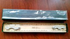 "Vintage K-E Drafting Machine Clear 12"" Scales Ruler #1375T-9 Keuffel Esser Nice"
