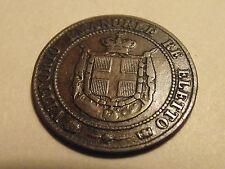 #2965 Tuscany / Italy; 2 Centesimi 1859