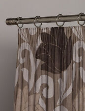 "Extra Wide 204""w X 83""d John Lewis CURTAINS Mink & Brown & Laura Ashley Tiebacks"