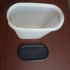 Tupperware * Modular Mates * Sheer OVAL  #4 Black Lid  9 3/4 C 1614 EUC