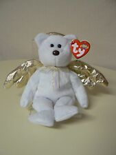 Ty Beanie Baby HALO II Plush White Bear with Gold Wings and 2000 Star Swing Tag