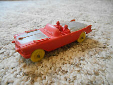 Old Vintage Toy Auburn Rubber USA Car Auto Red Silver Classic Convertible Caddy