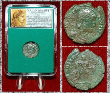 Ancient Roman Coin VALENTINIAN I Emperor Dragging Captive By Hair On Reverse