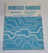 Werkstatthandbuch Honda Civic Shuttle Wagon 4WD Elektrischer Schaltplan 1989