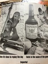 N1-8 Ephemera 1972 Advert Imperial Hiram Walker Whisky Replay The Day
