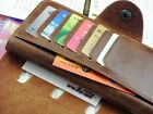 Fashion Men's Leather Long Wallet Pockets ID Card Clutch Cente Bifold Purse Hot
