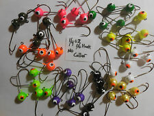 1/4OZ NO COLLAR TROUT CRAPPIE PANFISH 50 ASSORTED 1/0 EAGLE CLAW HOOK