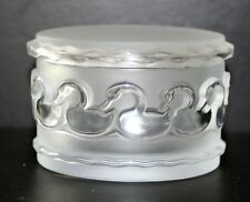 Vintage Lalique Crystal Covered Box Canards Signed/Authentic/Mint FREE SHIPPING