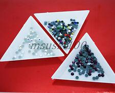 3 x triangolo di smistamento VASSOI Strass Cristallo Perline Nail Art Crafts