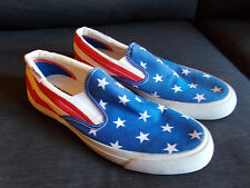 Converse Stars And Stripes Low Top Slip On Trainers UK7.5 EU 41 Blue Mix BNWoT