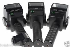 """X3 SUNPAK 522 FLASHES, 1 BRACE. AS-IS - THEY ALL WORK """"BUT"""" NOT AT 100% - READ!"""