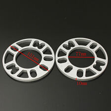 4pcs 10MM Universal Alloy Aluminum Wheel Spacers Shim Plate 4/5 Stud Fit WS-100