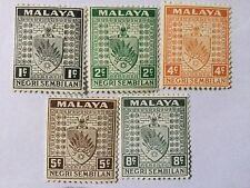 1935 Malaya Malaysia Negri Sembilan States Def Loose Set. MH
