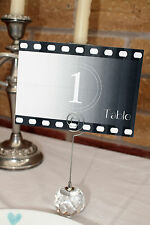 x1 Vintage Movie Countdown Wedding Table Number/Hollywood/Gatsby