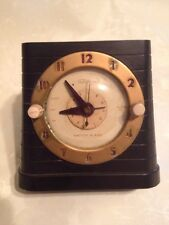 VINTAGE 1940S TELECHRON SWITCH ALARM  BAKELITE ELECTRIC ALARM CLOCK