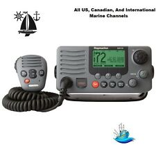 Ray218 Premier Easy To Use Fixed Mount VHF Marine Radio: IPX7 Submersible